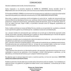 Anonymous habría atacado web de la Alcaldía de Guayaquil