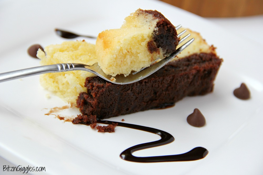Brownie Butter Cake - A moist, sweet, layered loaf cake - perfect for entertaining!