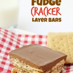 Peanut Butter Fudge Cracker Layer Bars