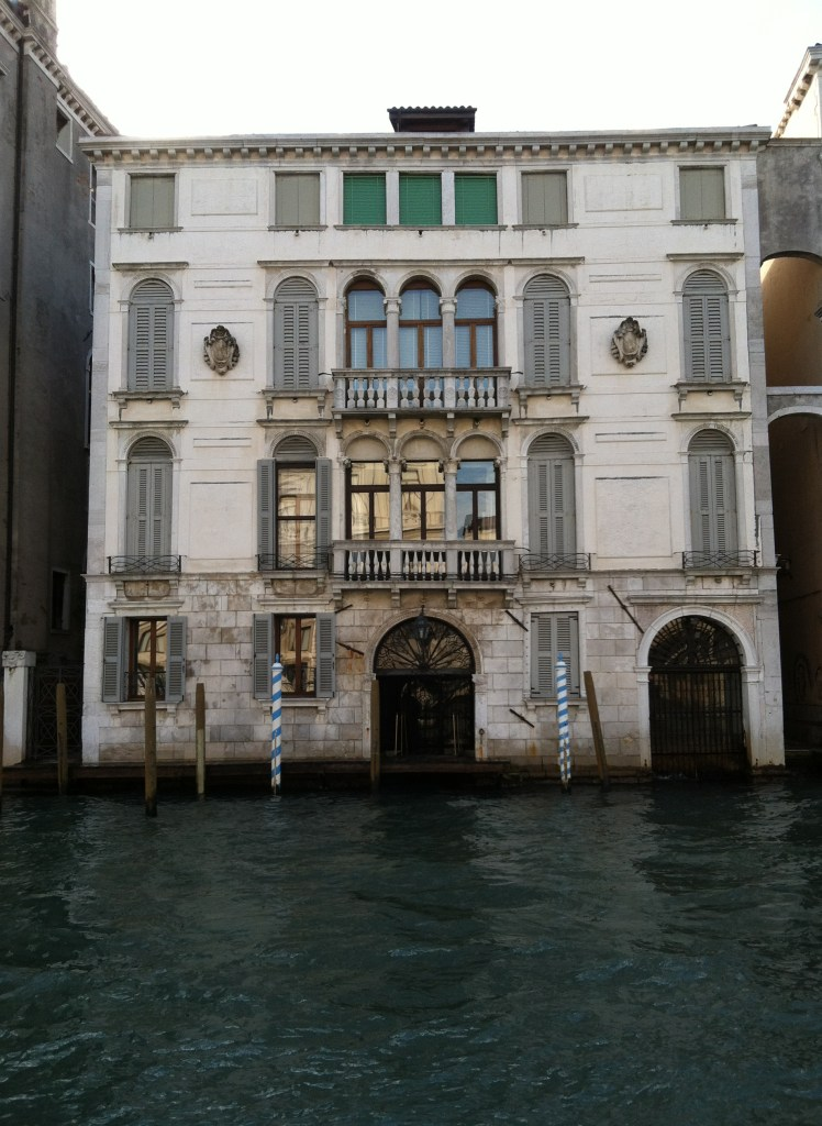 Our apartment from the Grand Canal