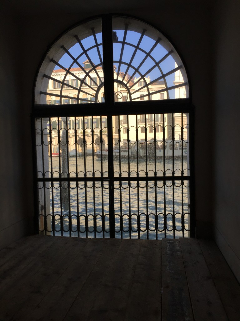 View of Blues Skies and the Grand Canal through the hallway waterdoor