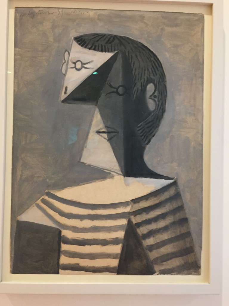"""Picasso """"Half Length Portrait of a Man in a Striped Shirt"""""""