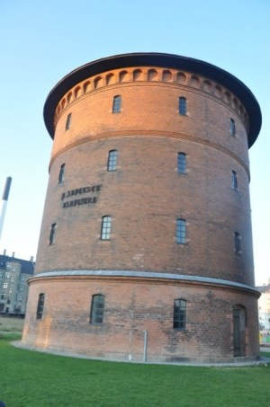 P. Andersens Vandtårn, hvor min tekst var udstillet