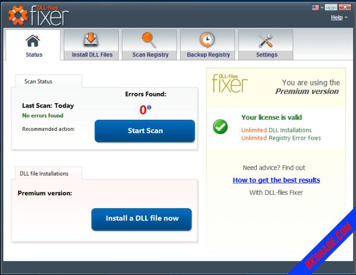 Dll-Files Fixer Premium 3.3.90.3079 Full Key - Sửa lỗi thiếu dll