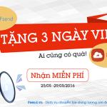 Event khuyến mãi – FSEND tặng 3 ngày Vip FSHARE