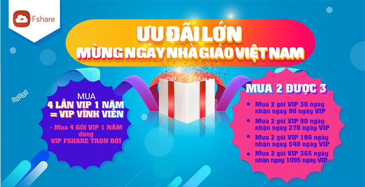 Tặng VIP vĩnh viễn - Mừng ngày nhà giáo Việt Nam