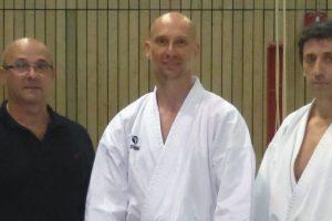 ):  DKV-Prüfer Georg Karras, Marco Heißenbüttel und Bundestrainer Efthimios Karamitsos
