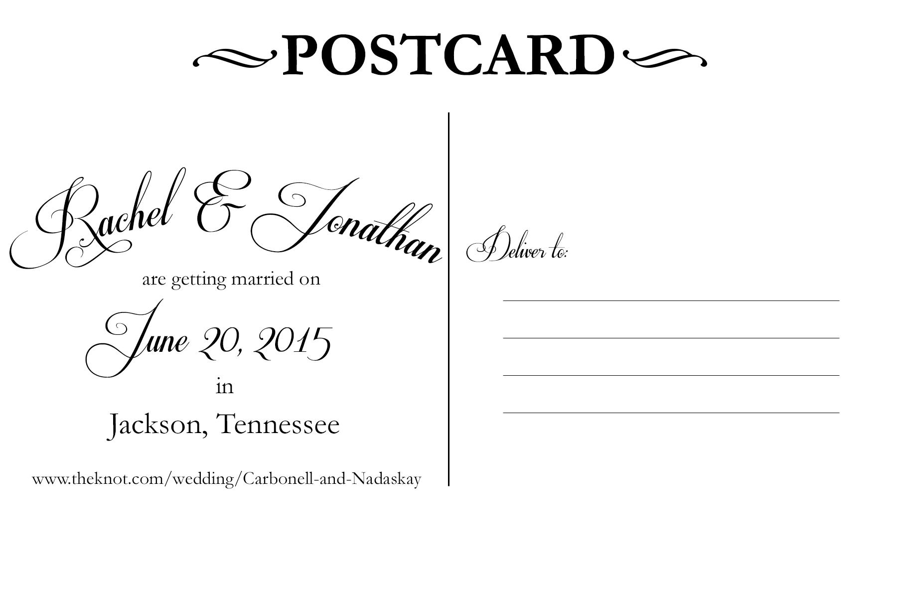 Fullsize Of Back Of Postcard