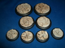 2x 50mm, 2x 40mm & 4x 30mm Barren Earth base inserts