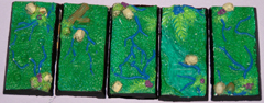 5x jungle terrain 25mm x 50mm bases