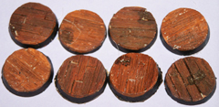 12x wooden Plank floor 25mm bases.