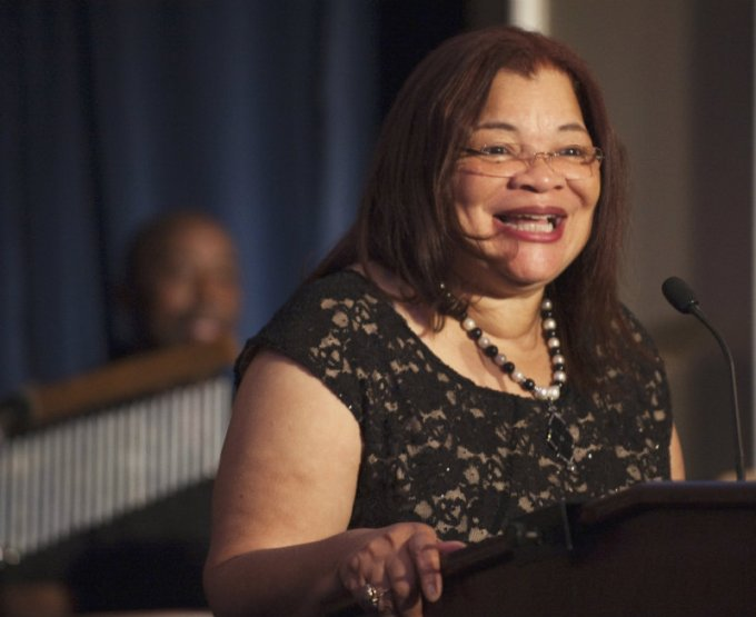 """Alveda King, founder of Alveda King Ministries, speaks during an """"I Have a Dream"""" Gospel brunch at the Willard InterContinental Hotel in Washington, D.C., on August 25, 2013. (PHOTO: REUTERS/MARY F. CALVERT)"""