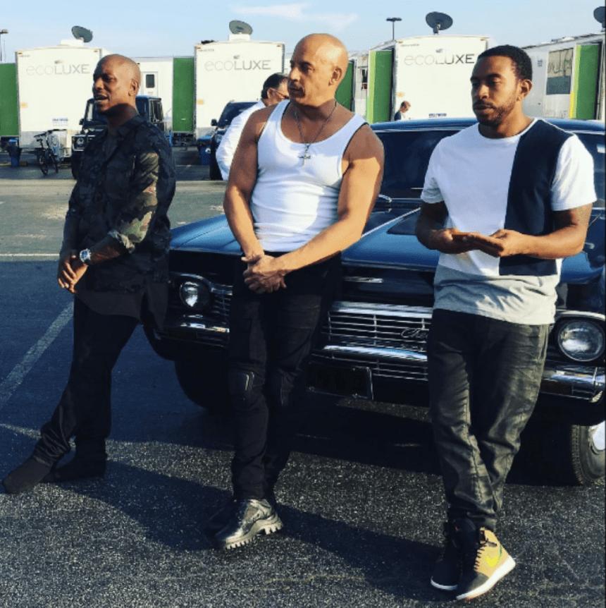 (Tyrese, Vin, Ludacris - photo courtesy of instagram)