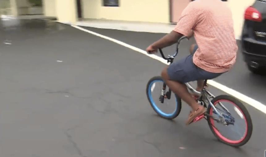 homeless teen bike