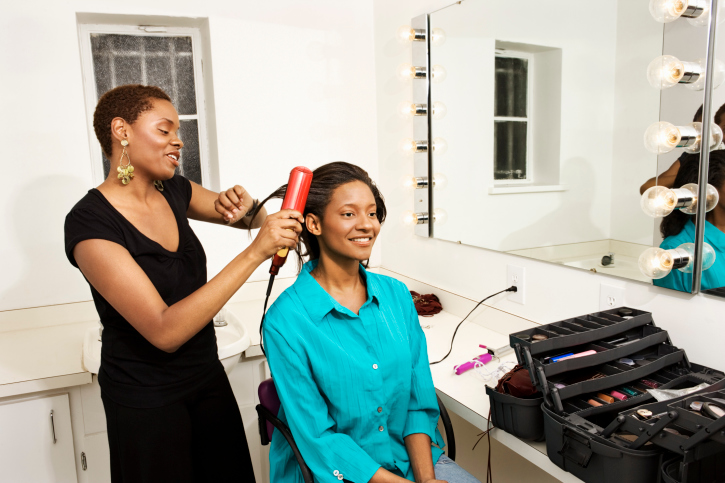 Black women bonding over hair, african american hair products