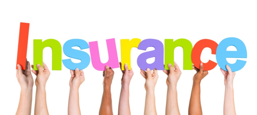 Diverse Hands Holding The Word Insurance