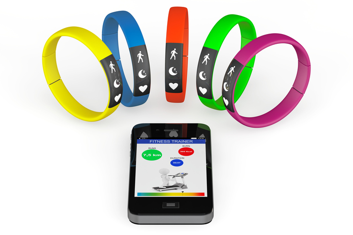 Fitness trackers with smart phone