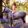 馬に乗る女