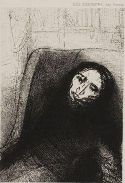 オディロン・ルドン Odilon Redon Des Esseintes, Frontispiece for A Rebours by J.K. Huysmans, 1888