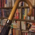 神田の傘やの日本製で細身で手開きで骨10本の傘