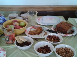 A few of tasty vittles...they were good, just that some bacon would have been better.