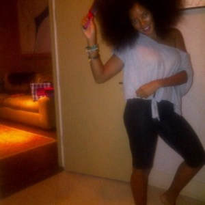 Angela Simmons, Natural Hair