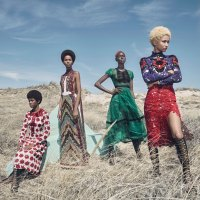 13 Stunning Pictures from W Magazine's All Black, All Natural Fashion Spread
