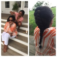 This Photo of Oprah Getting Her Hair Braided on a Stoop is Everything