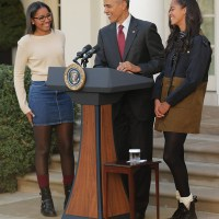 [Photos] The Obama Girls are Absolutely Gorgeous at The White House Turkey Pardon