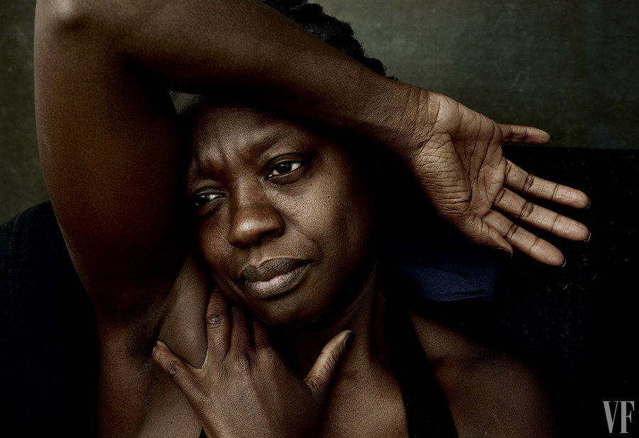 Fans are Divided on Vanity Fair's Makeup-Free, Partially Nude Portraits of Lupita Nyong'o and Viola Davis