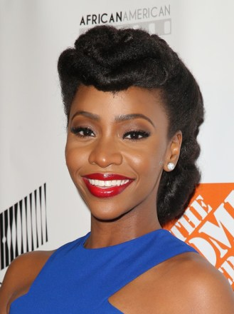 Honoree Teyonah Parris arrives at the 7th Annual AAFCA Awards on February 10, 2016 in Los Angeles, California. (Feb. 9, 2016 - Source: Imeh Akpanudosen/Getty Images North America)