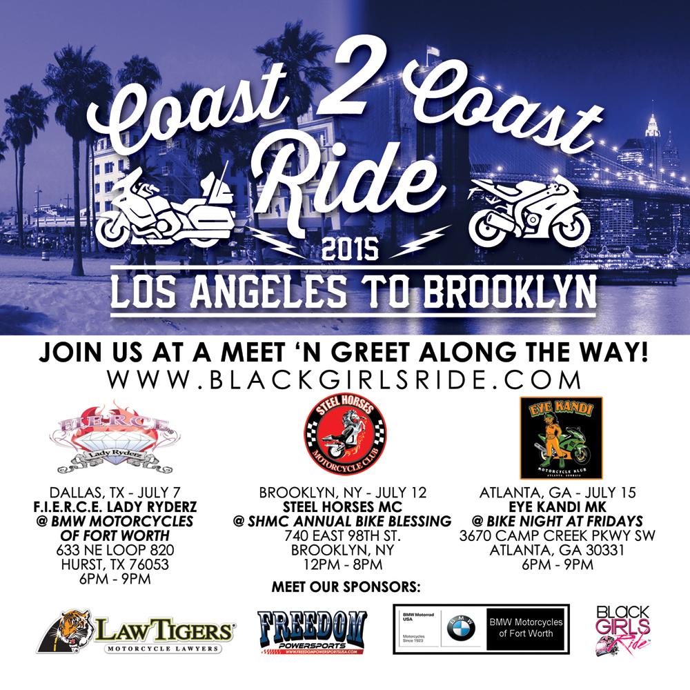 Coast 2 Coast Ride 2015  Black Girls Ride Magazine  Motorcycles