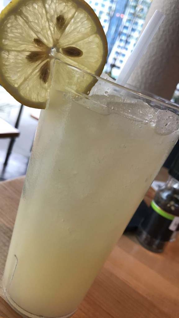 I ordered this Ginger Lemonade and I must say the ginger really opens your sinuses LOL!