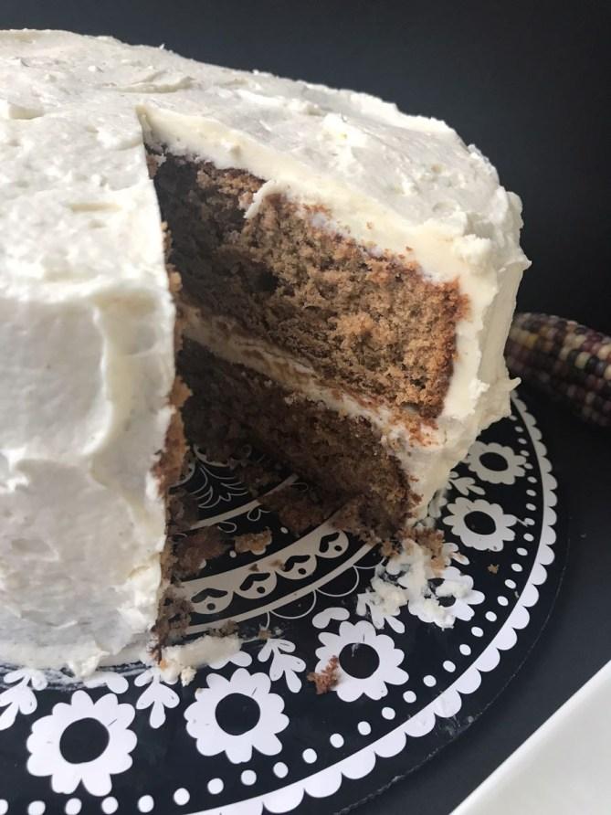 Sweet Potato Cake w: Cream Cheese Icing-2