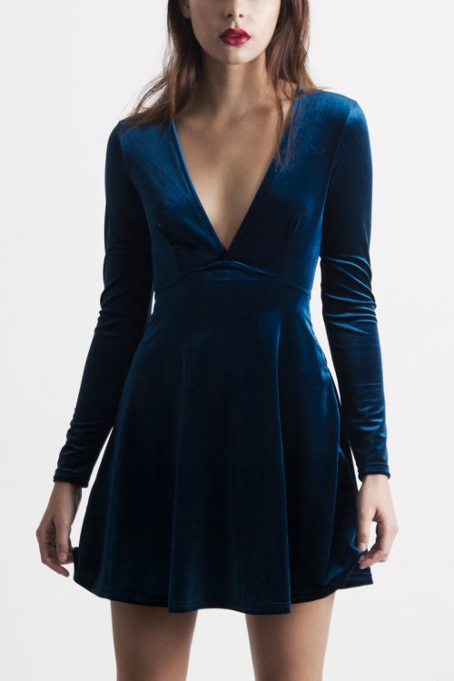 Medium Of Blue Velvet Dress