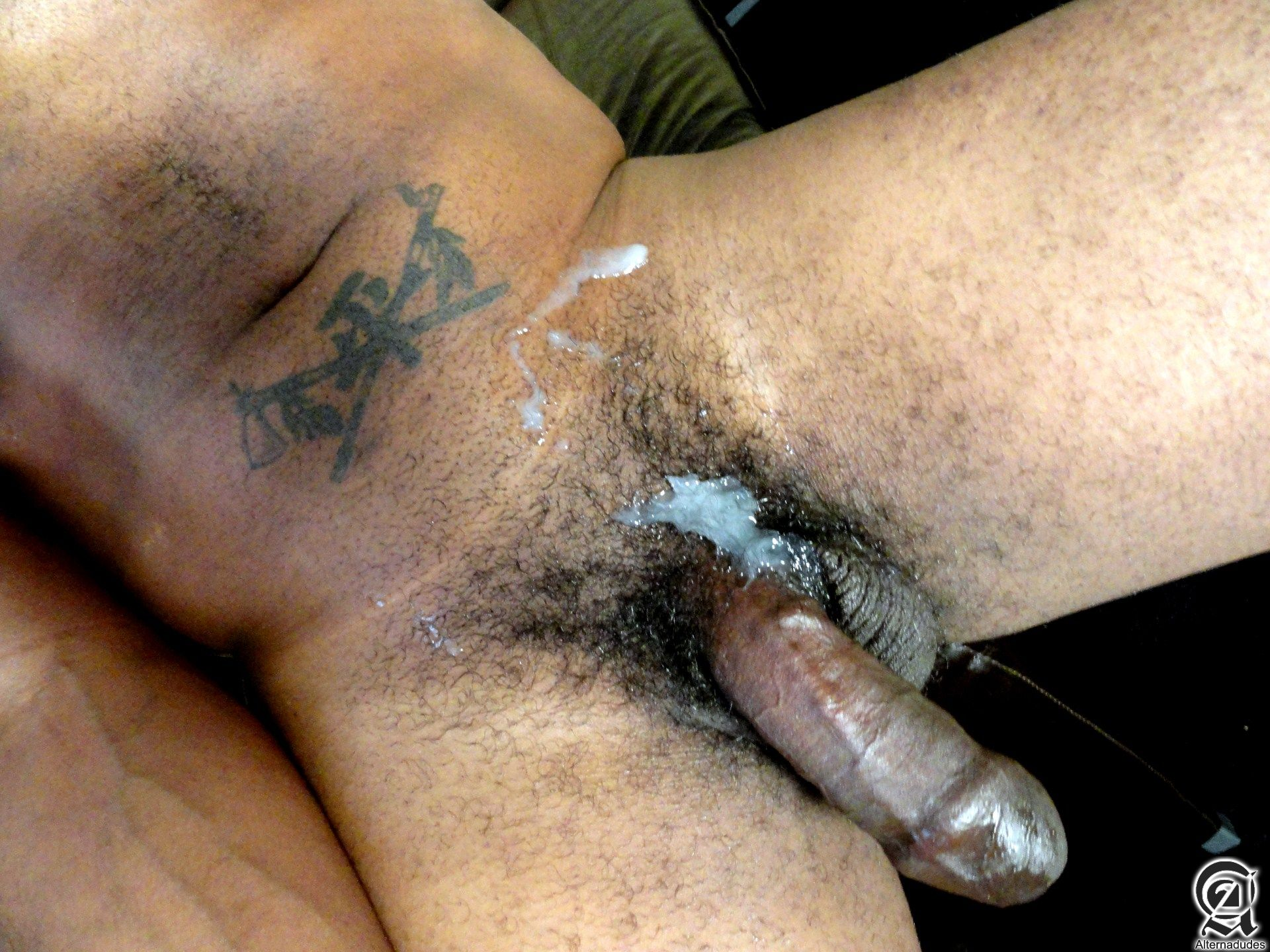 large uncut black cock