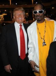 NEW YORK, NY - MARCH 09: Donald Trump and Snoop Dogg attend the COMEDY CENTRAL Roast of Donald Trump at the Hammerstein Ballroom on March 9, 2011 in New York City. (Photo by Jeff Kravitz/FilmMagic)