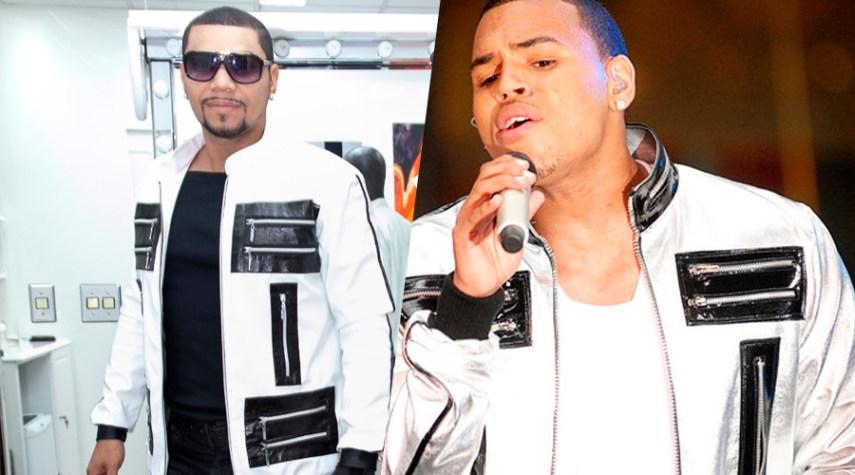 Naldo usando as mesmas roupas de Chris Brown
