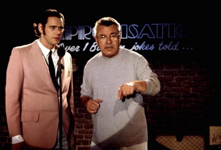 Diretor Chris Smith com Jim Carrey