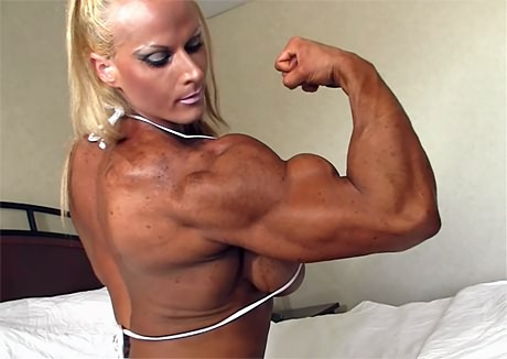 female muscle morph animation