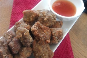 Vegan Mock Chicken Nuggets Made with Seitan