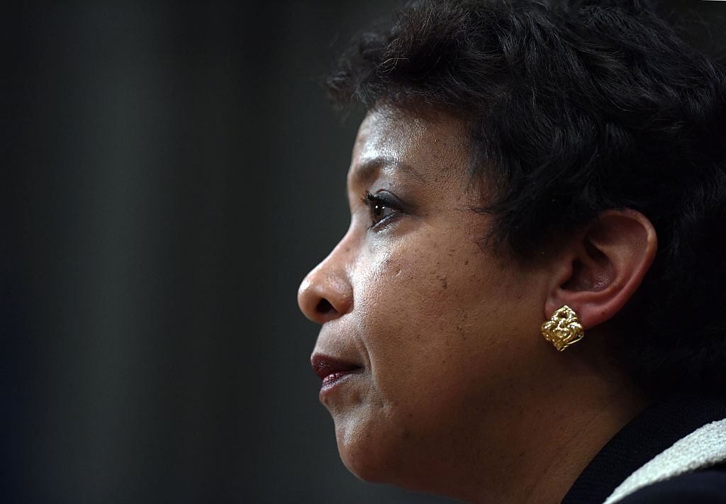 WASHINGTON D.C., Jan. 20, 2016 -- U.S. Attorney General Loretta Lynch testifies before the Senate Commerce, Justice, Science, and Related Agencies subcommittee hearing on gun control on Capitol Hill in Washington D.C., Jan. 20, 2016. U.S. Attorney General Loretta Lynch on Wednesday defended U.S. President Barack Obama's executive actions on gun control as legal amid Republicans' fierce opposition.