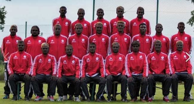 German soccer team blackface