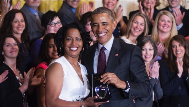 Jahana Hayes Barack Obama
