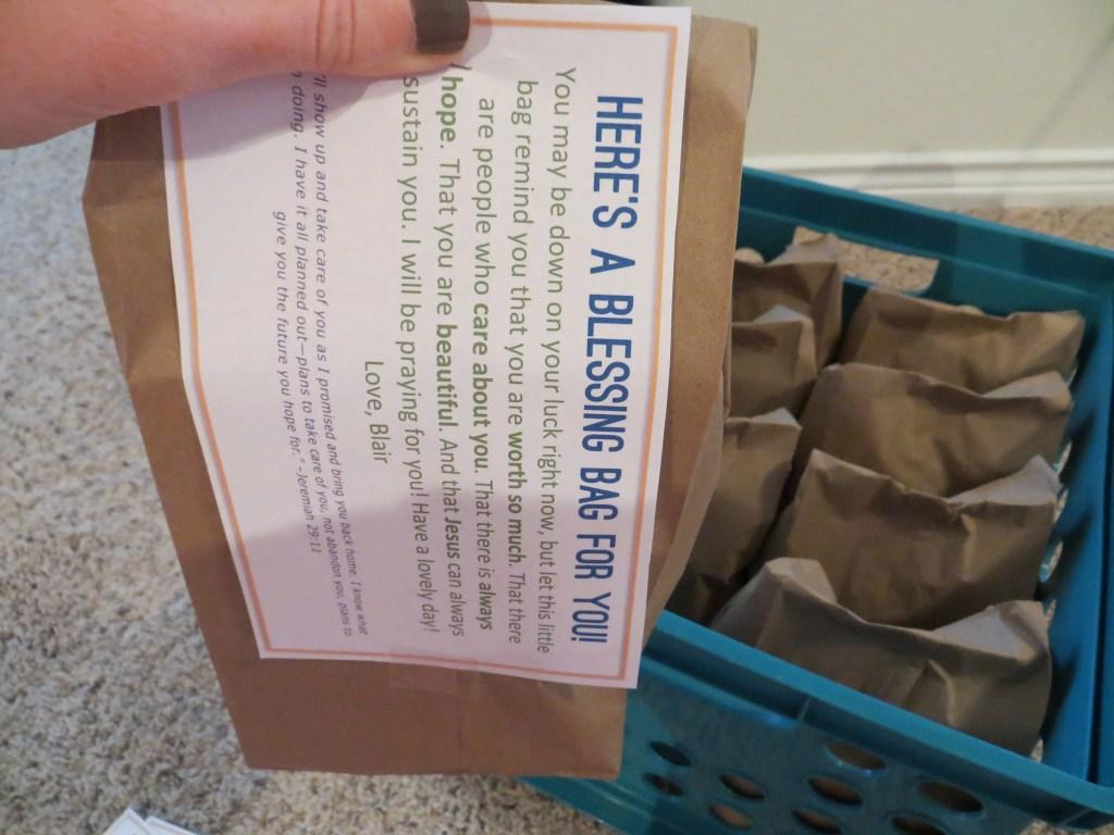 blessing bags for the homeless blair blogs