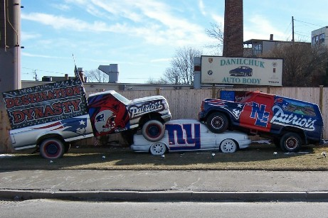 Danilchuk Auto Body New England Patriots car display 2008