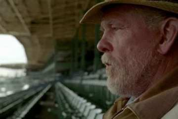 """Walter (Nick Nolte) watches in wonder as """"Luck"""" astonishes while crosses the finish line of its first, and final, season."""