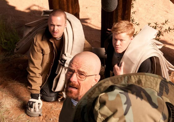 Jesse, Walt and Todd (Jesse Plemons) await the signal before they begin their great train robbery.