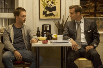 In a bizarre turn of events, Harvey joins Mike in getting high