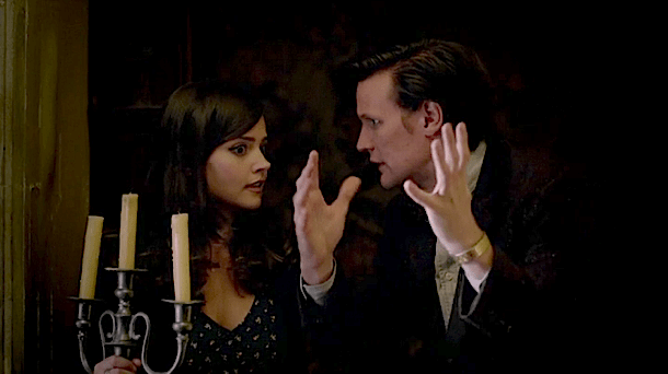 Clara (Jenna Louise-Coleman) and the Doctor (Matt Smith) go looking for a ghost.